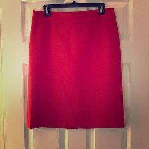 Red-orange Pencil Skirt
